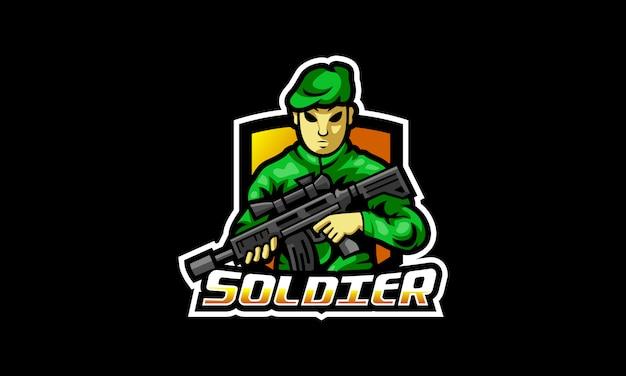 Das soldier esports logo Premium Vektoren