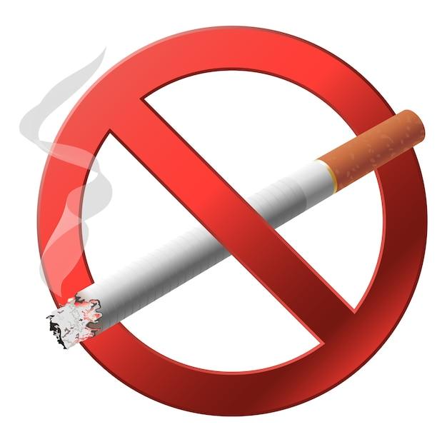 Das zeichen nicht rauchen. Premium Vektoren