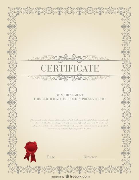 Muster zertifikat vektoren fotos und psd dateien for Das design des esszimmers