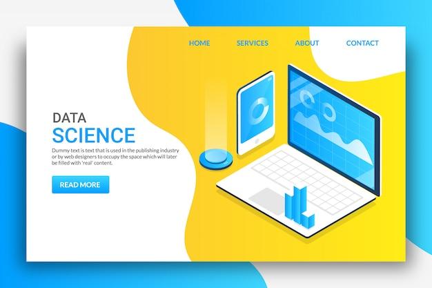 Data science Premium Vektoren