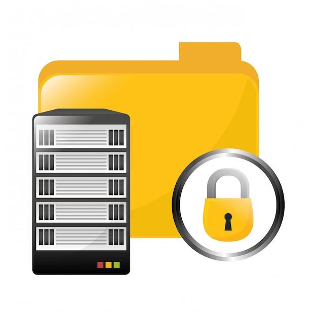 Datacenter-speicher-symbolbild Premium Vektoren