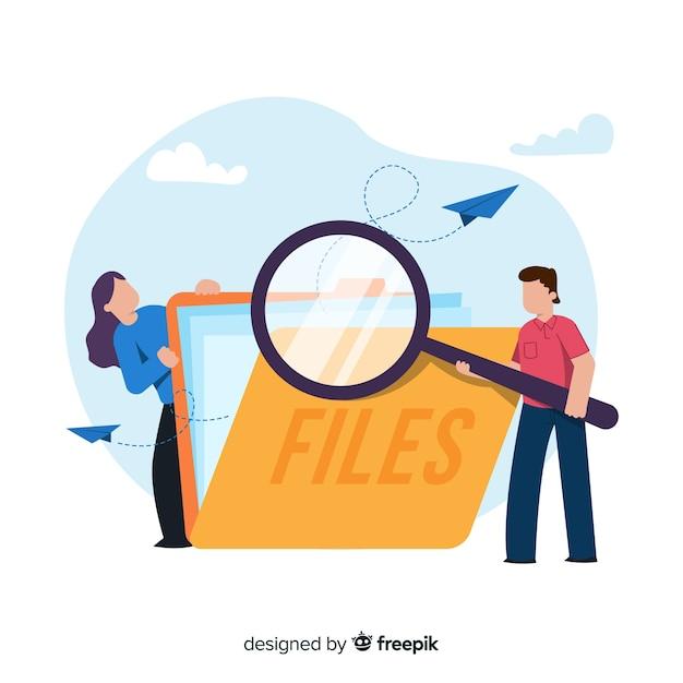 Datei, die konzeptillustration sucht Kostenlosen Vektoren