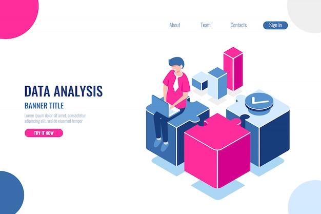 Datenanalyse, bannertitel Kostenlosen Vektoren