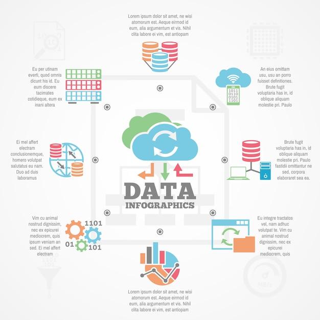 Datenanalyse-infografik Kostenlosen Vektoren