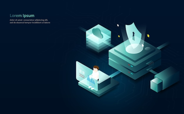 Datenanalyse-internet-sicherheitskonzept Premium Vektoren