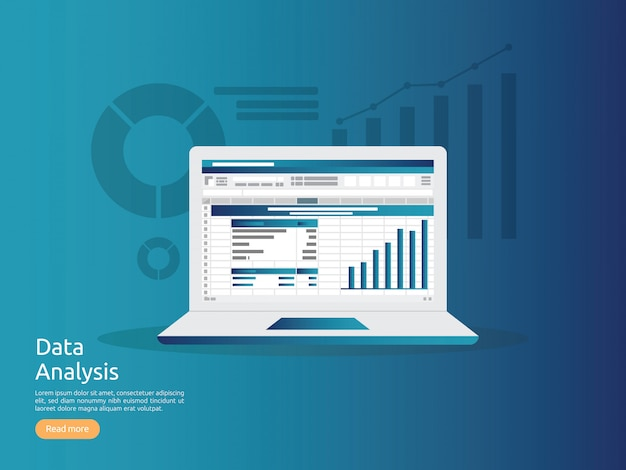Datenanalyse-kalkulationstabelle Premium Vektoren