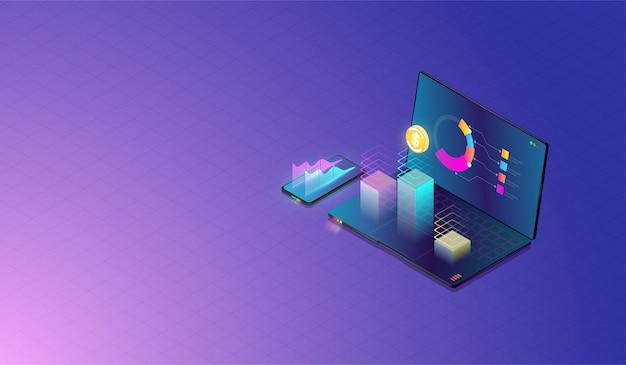 Datenanalyse und investitionskonzept Premium Vektoren