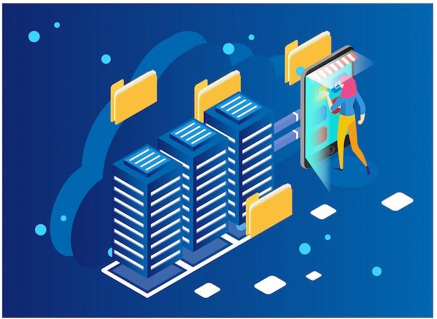 Datenanalyse- und statistikkonzept. Premium Vektoren