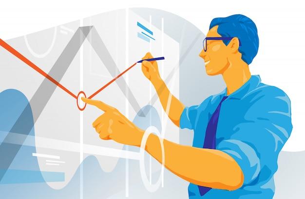Datenanalyse Premium Vektoren