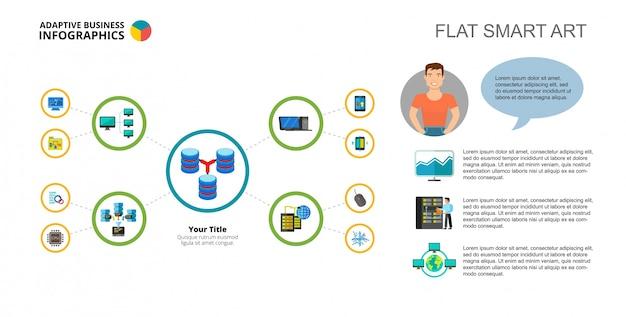 Datenbank-konzept mind map slide-vorlage   Download der kostenlosen on