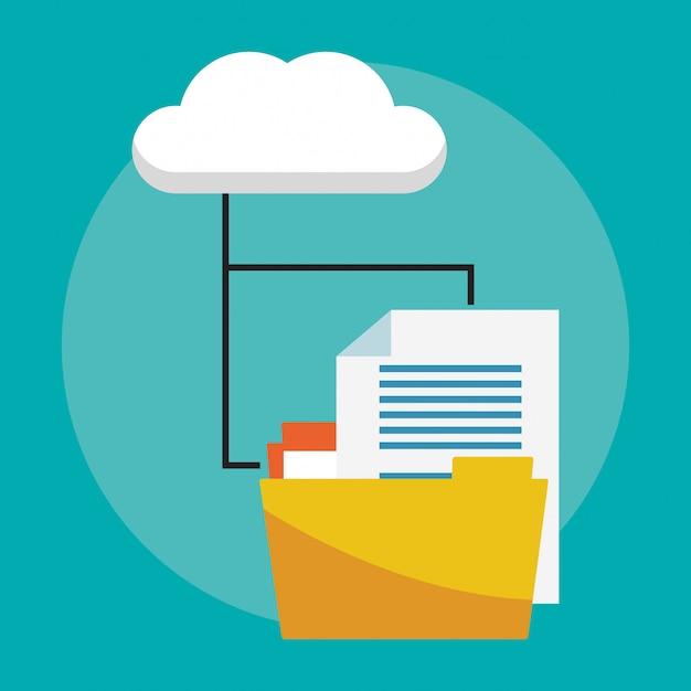 Datenbank- und cloud-computing Premium Vektoren