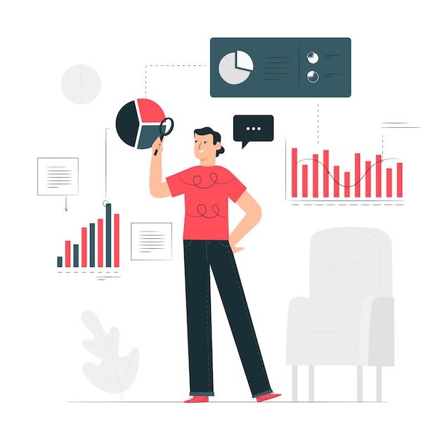 Datenkonzept illustration Kostenlosen Vektoren