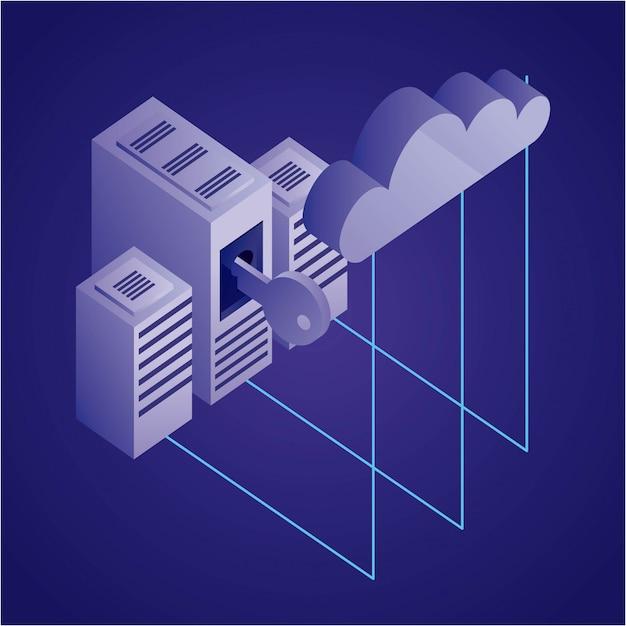 Datennetz abbildung Kostenlosen Vektoren