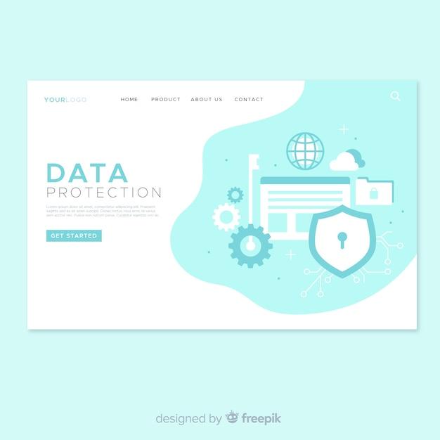 Datenschutz landingpage design Kostenlosen Vektoren