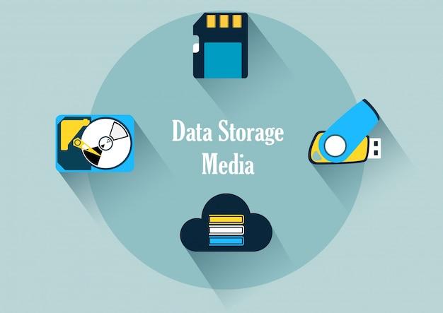 Datenspeichermedien Premium Vektoren