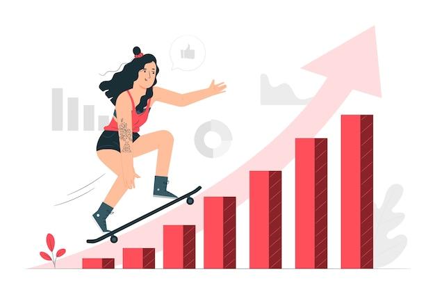 Datentrends konzept illustration Kostenlosen Vektoren