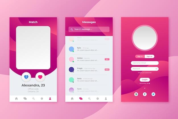 Dating-app-oberfläche Kostenlosen Vektoren