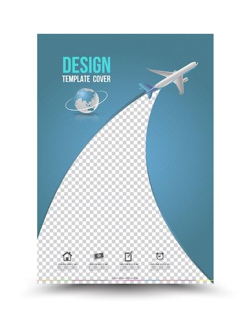 Deckblatt Layout Vorlage Mit Papierflugzeug Download Der Premium