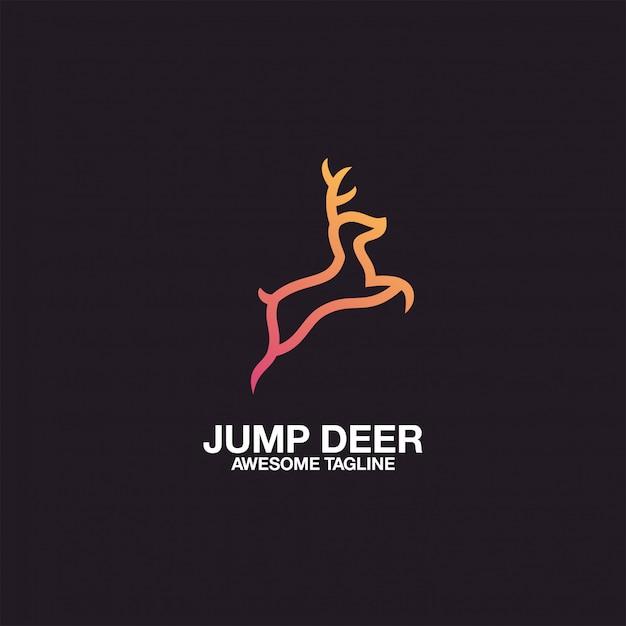 Deer logo design awesome inspiration inspirations Premium Vektoren