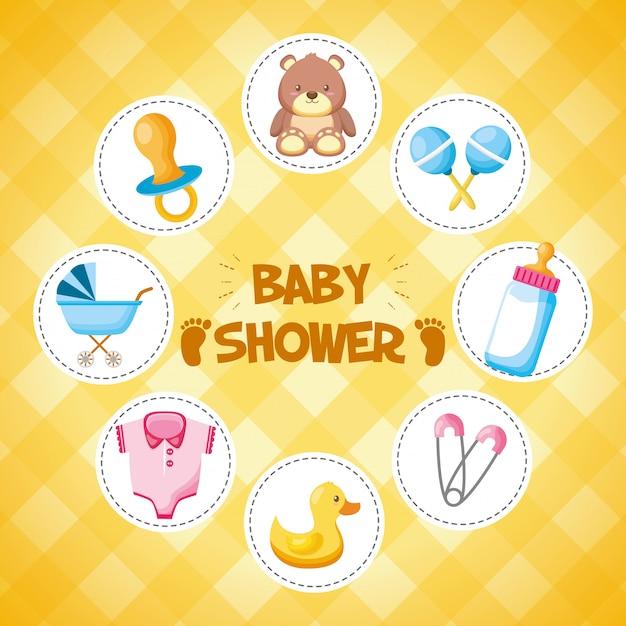Dekoration für babyparty Kostenlosen Vektoren