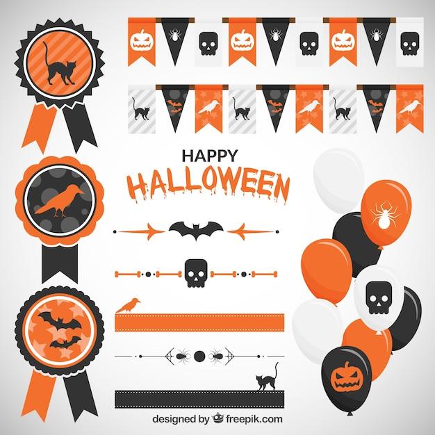 Dekoration für Halloween-Party Download der Premium Vektor