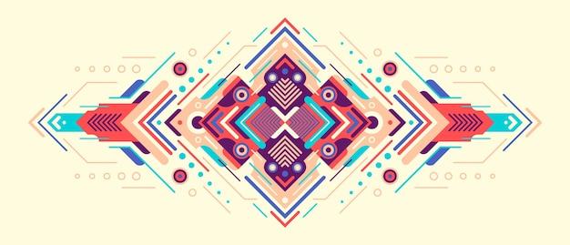 Dekorative abstrakte illustration. Premium Vektoren