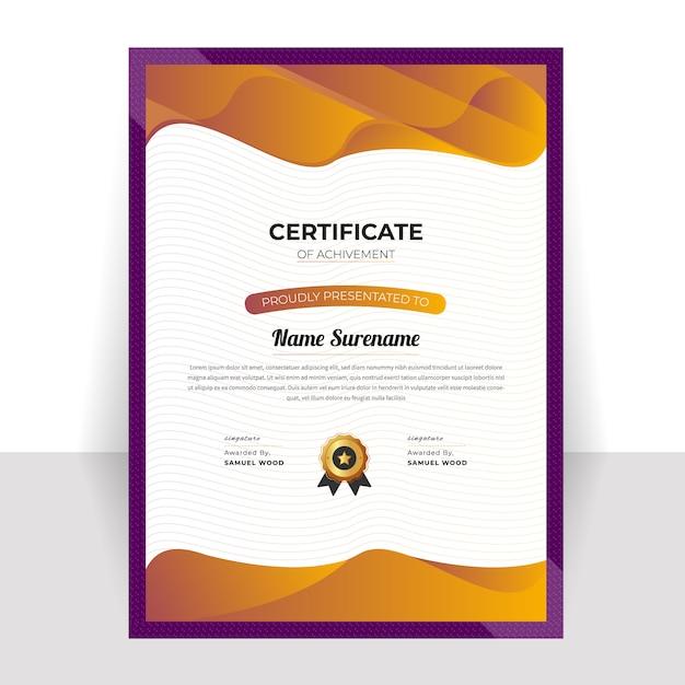 Dekorative diplom zertifikatvorlage Premium Vektoren