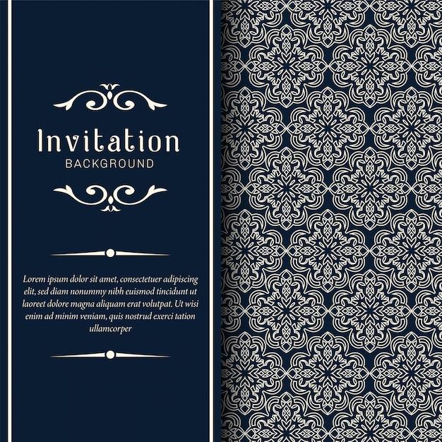 Dekorative hochzeitseinladungskarten Premium Vektoren