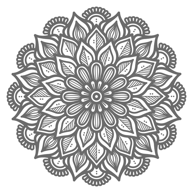Dekorative konzept dekorative mandala illustration für zusammenfassung und dekoration Premium Vektoren