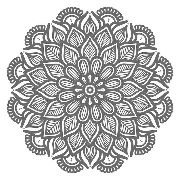 Dekorative konzept schöne natur abstrakte mandala illustration Premium Vektoren