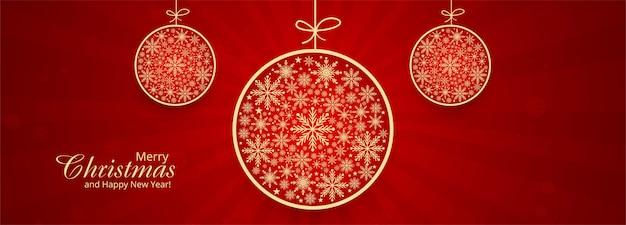 Dekorative kugel der weihnachtsschneeflocken Kostenlosen Vektoren