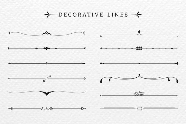 Dekorative linien Kostenlosen Vektoren