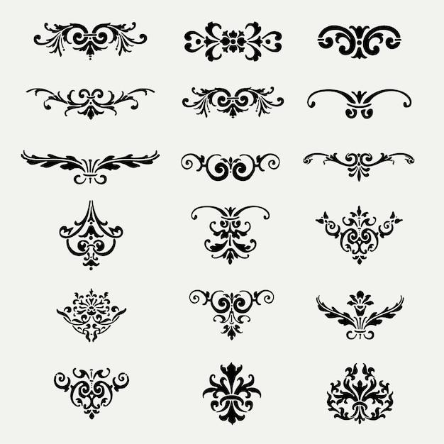 Dekorative ornamente sammlung download der kostenlosen for Ornamente jugendstil