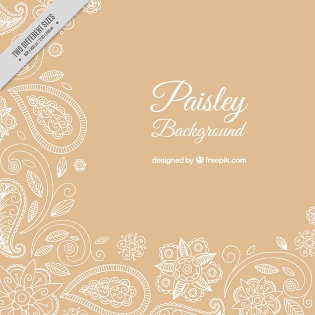 Dekorative paisley-hintergrund Kostenlosen Vektoren