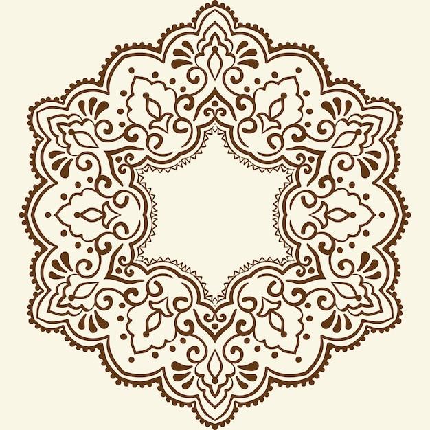 Dekorative runde spitze mit damast- und arabeskenelementen Kostenlosen Vektoren