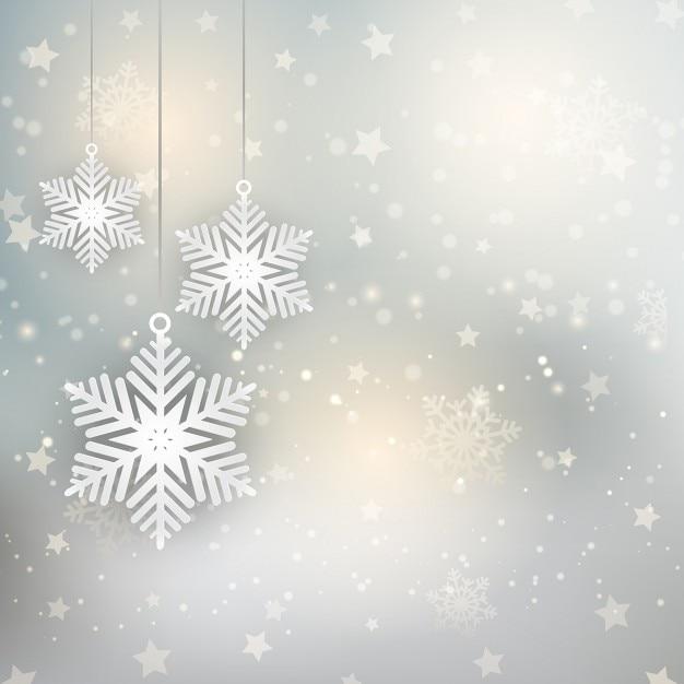 Weihnachtsbilder Als Hintergrund.Dekorative Weihnachten Hintergrund Mit Hängenden Schneeflocken