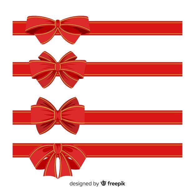 Dekorative weihnachtsfarbbandsammlung Kostenlosen Vektoren