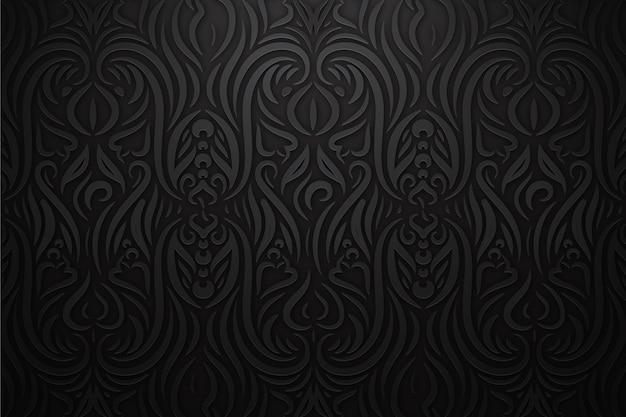 Dekorativer abstrakter mit blumenhintergrund Kostenlosen Vektoren