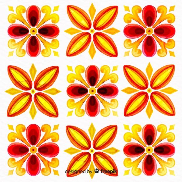 Dekorativer blumenaquarell-farbenhintergrund Kostenlosen Vektoren