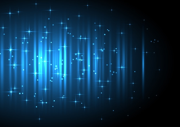 Dekorativer festlicher hintergrund mit leuchtenden sternen Kostenlosen Vektoren