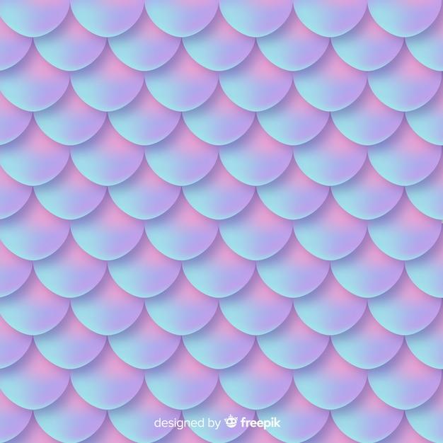 Dekorativer hintergrund des holographischen meerjungfrauschwanzes Premium Vektoren