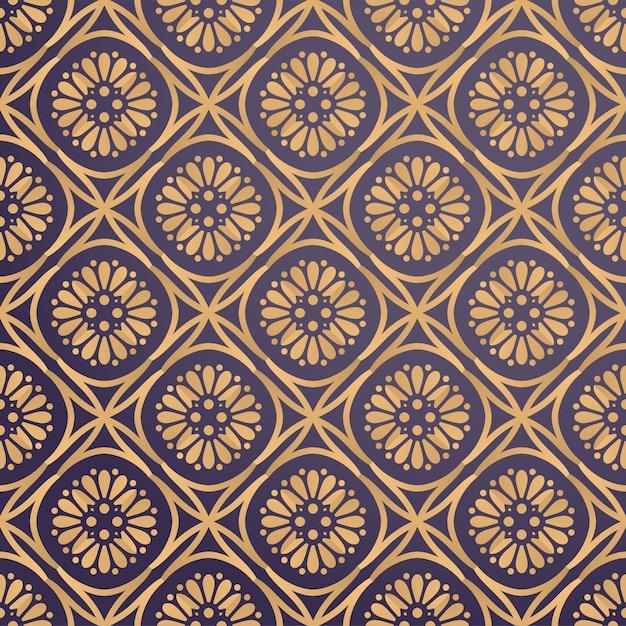 Dekorativer luxushintergrund in der goldfarbe Kostenlosen Vektoren