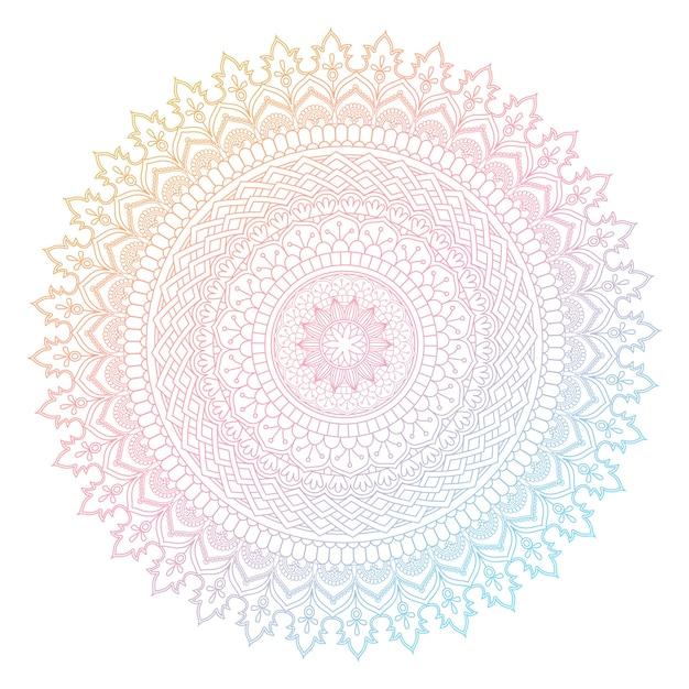 Dekorativer Mandala-Design mit Pastellfarben Kostenlose Vektoren