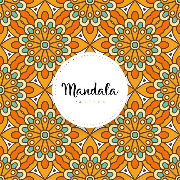 Dekorativer mandala-designluxushintergrund Premium Vektoren