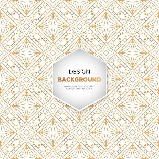 Dekorativer Mandala-Luxusdesignhintergrund in der Goldfarbe Kostenlose Vektoren