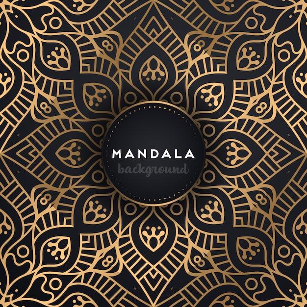 Dekorativer mandala-luxushintergrund Kostenlosen Vektoren