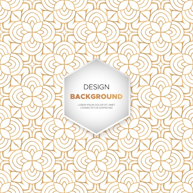 Dekorativer mandaladesign-luxushintergrund Kostenlosen Vektoren