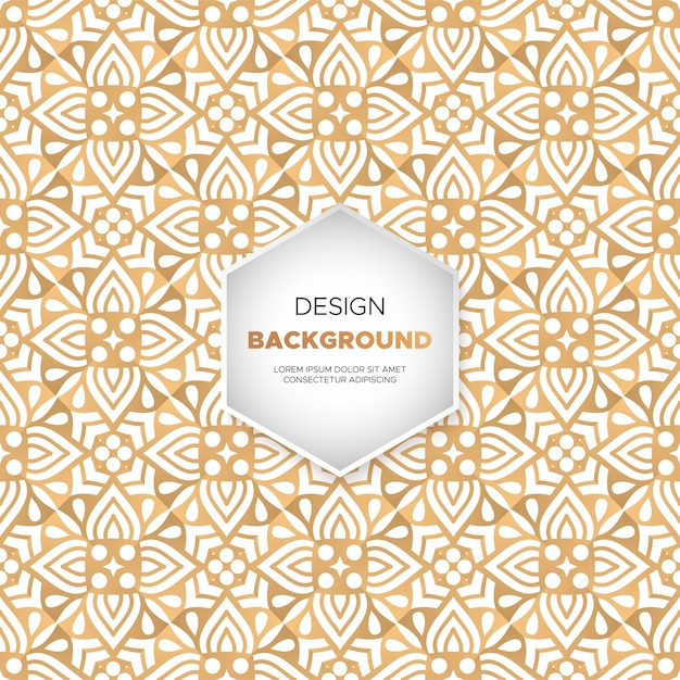 Dekorativer mandaladesignhintergrund im goldfarbvektor Kostenlosen Vektoren