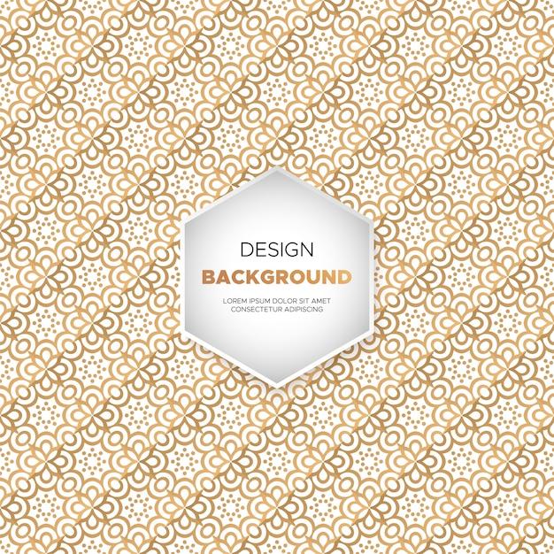 Dekorativer mandaladesignluxushintergrund in der goldfarbe Kostenlosen Vektoren