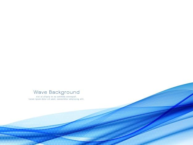 Dekorativer moderner blauer wellenentwurfshintergrundvektor Kostenlosen Vektoren